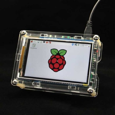 3.5 inch HD High-Speed Display Screen + Acrylic Enclosure Case Kits