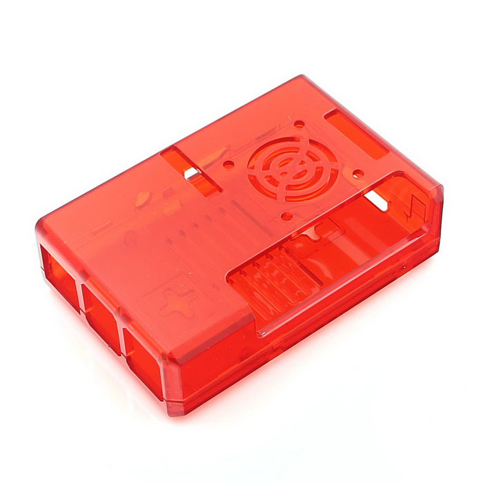 ABS Enclosure Case for Raspberry Pi 3B / 2B / B+ with Fan Hole - Red