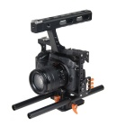 YELANGU Video Camera Cage Film Movie Making with 15mm Rod Rig Kit.A7