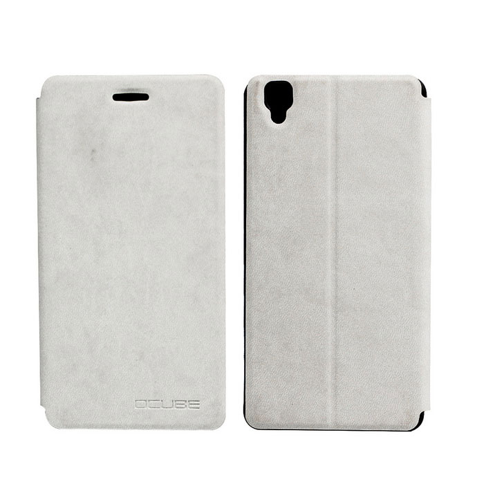 OCUBE PU Leather Case for Bluboo Maya Mobile Phone - White
