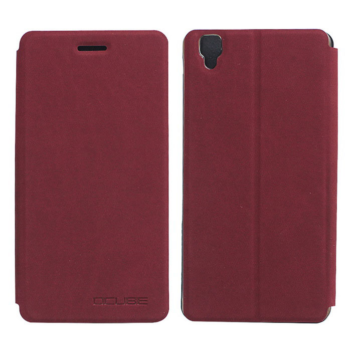 OCUBE PU Leather Case for Bluboo Maya Mobile Phone - Wine Red