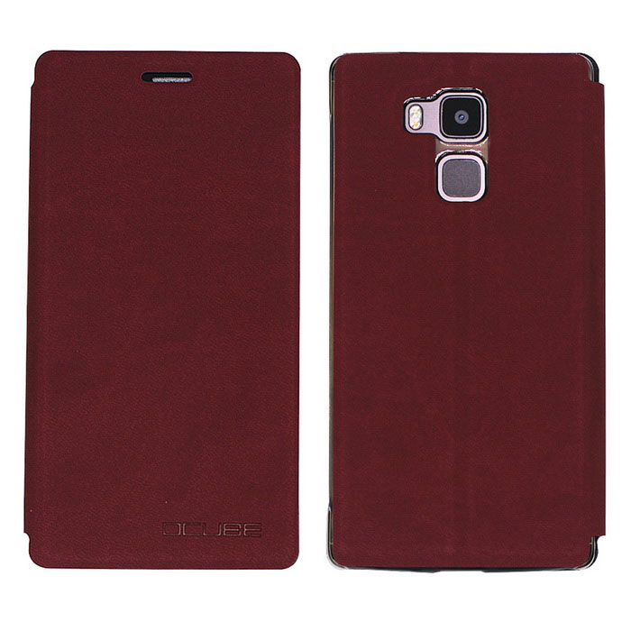 OCUBE PU Leather Case for Vernee Apollo Lite Mobile Phone - Wine RedLeather Cases<br>Form  ColorClaret RedModel-MaterialPC + PUQuantity1 DX.PCM.Model.AttributeModel.UnitShade Of ColorRedCompatible ModelsVernee Apollo LiteFeaturesDust-proof,Abrasion resistance,Holder functionPacking List1 * Case<br>