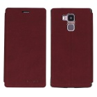 OCUBE PU Leather Case for Vernee Apollo Lite Mobile Phone - Wine Red