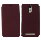 OCUBE PU Leather Case for Homtom HT17 Mobile Phone - Wine Red