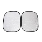 ZIQIAO Car Windshield Visor Cover Front Window Films - Silver (6pcs)