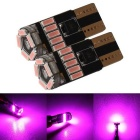 MZ T10 LED Car Clearance Light Pink 240lm 15-4014 SMD (12V/2PCS)