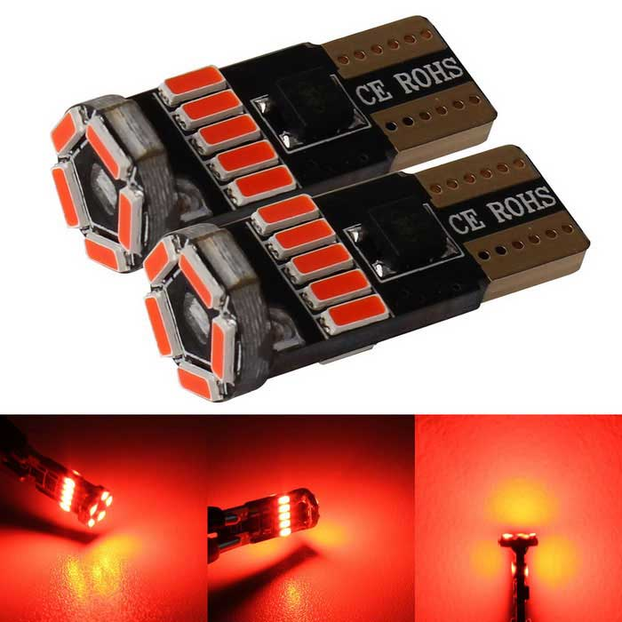 MZ T10 LED Car Clearance Light Red 240lm 15-4014 SMD (12V/2PCS)