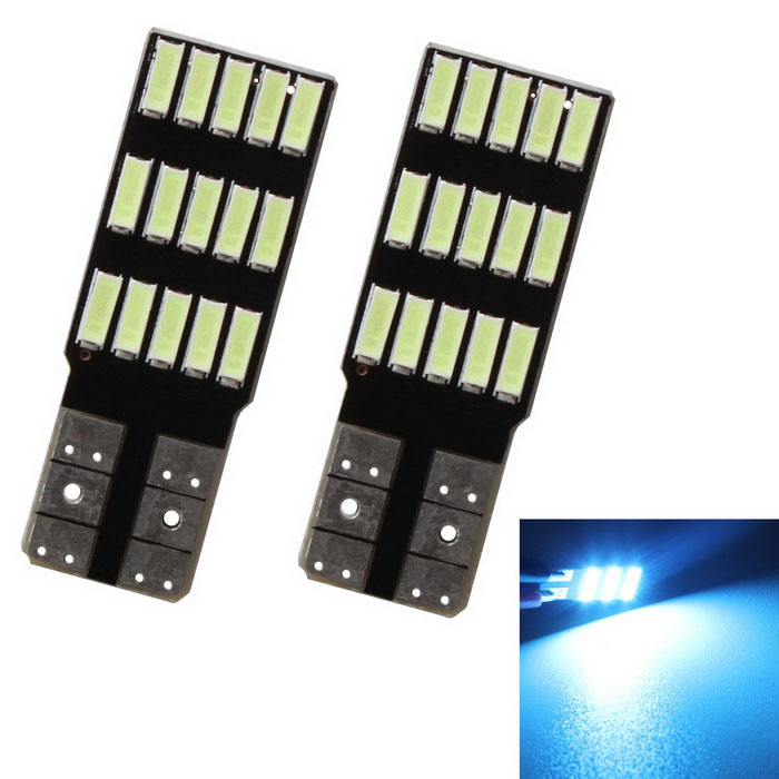 MZ T10 luzes de leitura do carro LED Ice Blue 240lm 15-4014 SMD (12V / 2PCS)