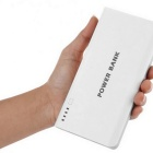 15000mAh Power Bank External Battery - White + Green