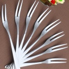 10-in-1 Stainless Steel Fruit Forks Set - Bright Silvery Grey