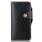 Cow Split Leather Case w/ Card Slots for IPHONE 7 Plus - Dark Blue