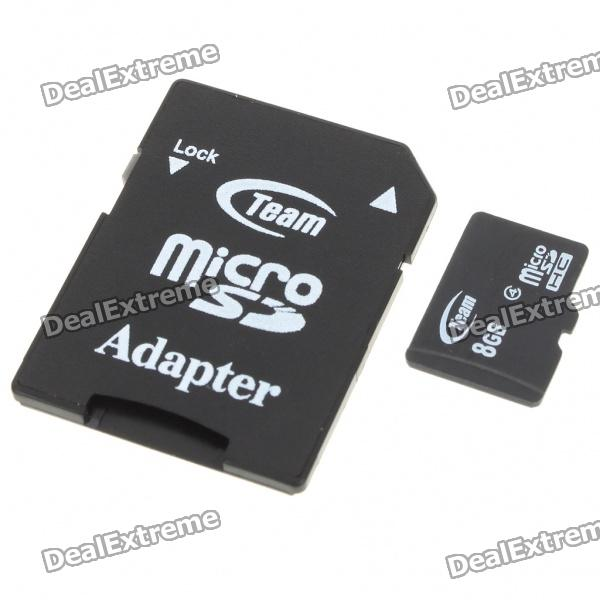 Echte Teamgroup Micro SD / Transflash-Karte mit SD-Adapter (8GB)