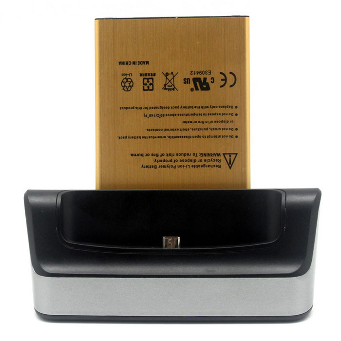 5V / 1.5A lading dock + 3.85V / 3500mAh Li- ion batteri for LG V10 - grå