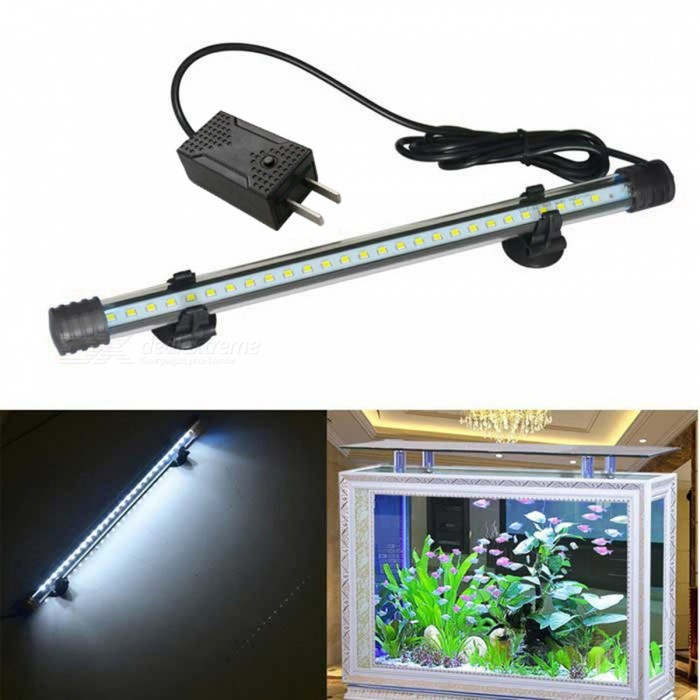 Jiawen 1.5W 30cm luz branca fria 27-LED Aquarium Light (Plugs EUA)