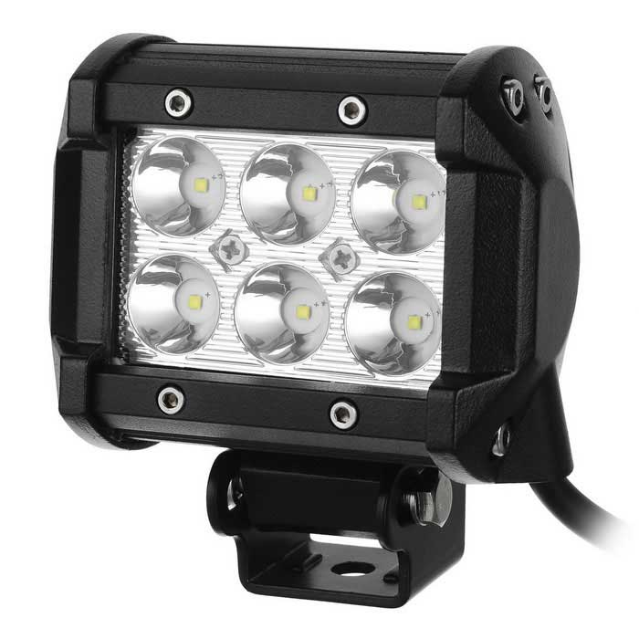 "4"" 18W CREE LED Work Light Bar SUV Boat 4WD ATV Auxiliary Driving Lamp"