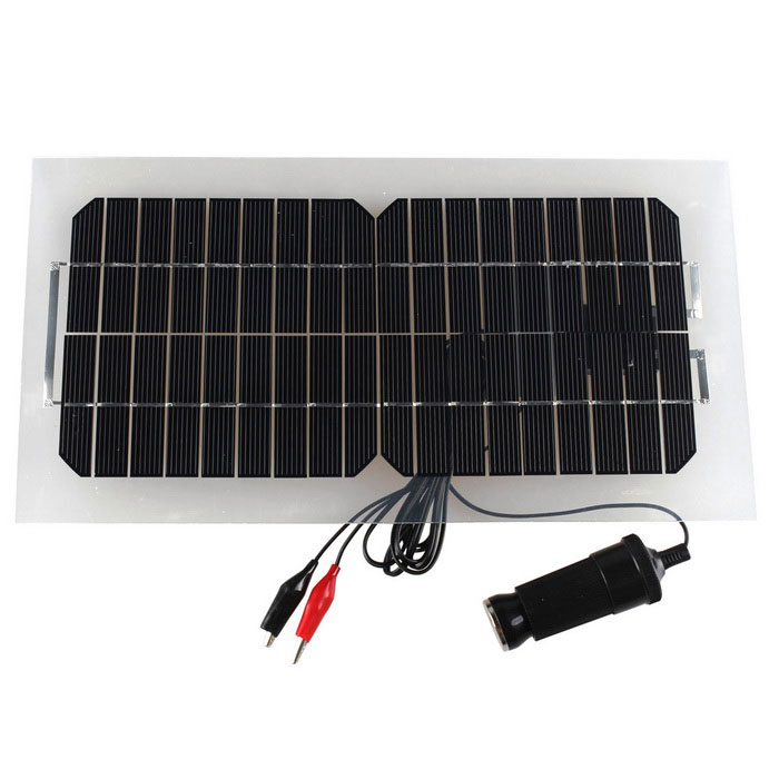 18V 5.5W 31.5 * 16.5 * 0.15cm Semi-Flexible Solar Panel w/ Cable