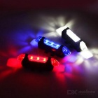 USB Charged 4-Mode Blue Light 5-LED Bicycle Lamp - Blue