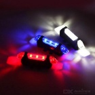 USB Charged 4-Mode Neutral White Light 5-LED Bicycle Lamp - White