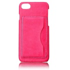Lychee Pattern Protective PU Back Case for IPHONE 7 - Deep Pink