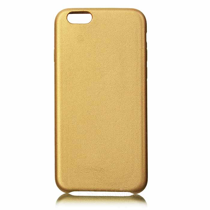 Protective PU Back Case for IPHONE 7 - Gold