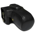PU Leather Camera Case Bag for Nikon D800/D810 DSLR Camera - Black