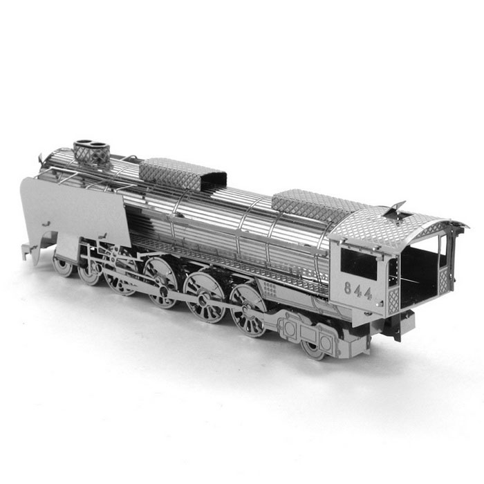 DIY 3D Puzzle Model Assembled Locomotive Educational Toy - SilverBlocks &amp; Jigsaw Toys<br>Form ColorSilverMaterialStainless steelQuantity1 DX.PCM.Model.AttributeModel.UnitNumber2Size11.4*2.5*3.2cmSuitable Age 5-7 years,8-11 years,12-15 years,Grown upsPacking List2 * Model  boards<br>