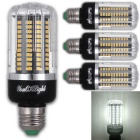 YouOKLight E27 15W 130 SMD-5736 LED Cool White Corn Bulbs (4Pcs)