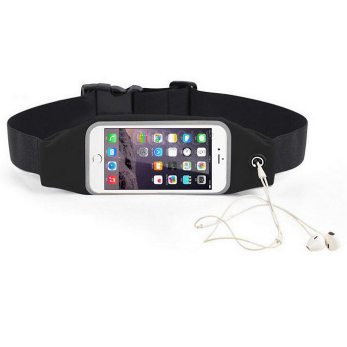 Waterproof Sport Gym Waist Bag Case For IPHONE 6 / 6s - Black