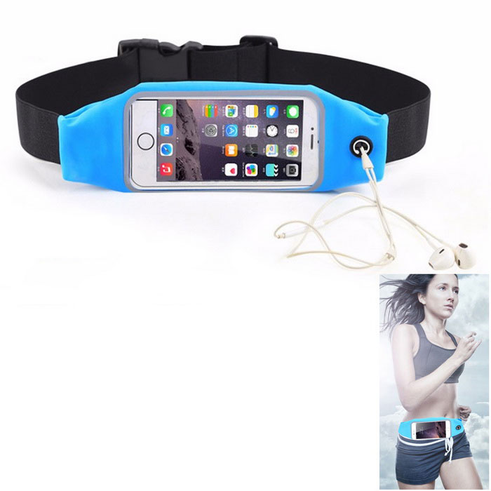 Waterproof Sport Gym Waist Bag Case for IPHONE 6 / 6S - Sky Blue