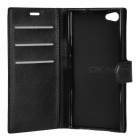 Lichee Pattern Protective Case for Doogee Y300 - Black