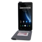 Up-Down Flip Open Protective PU Case for Doogee X5 - Black