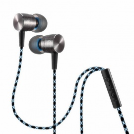 QKZ X41M 3.5mm Plug Wired In-Ear Metal Earphone, Magnetic Adsorption Headset with Mic for Mobile Phone / Mp3 / Pad - Golden