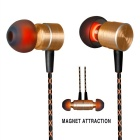 Auriculaire intra-auriculaire Plextone X41M avec microphone - Or