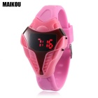 MAIKOU Cobra Head Style Red LED Digital Wrist Watch - Pink