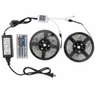 72W RGB 300-5050 SMD LED Light Strip w/ IR / Power Supply (12V / 2*5m)