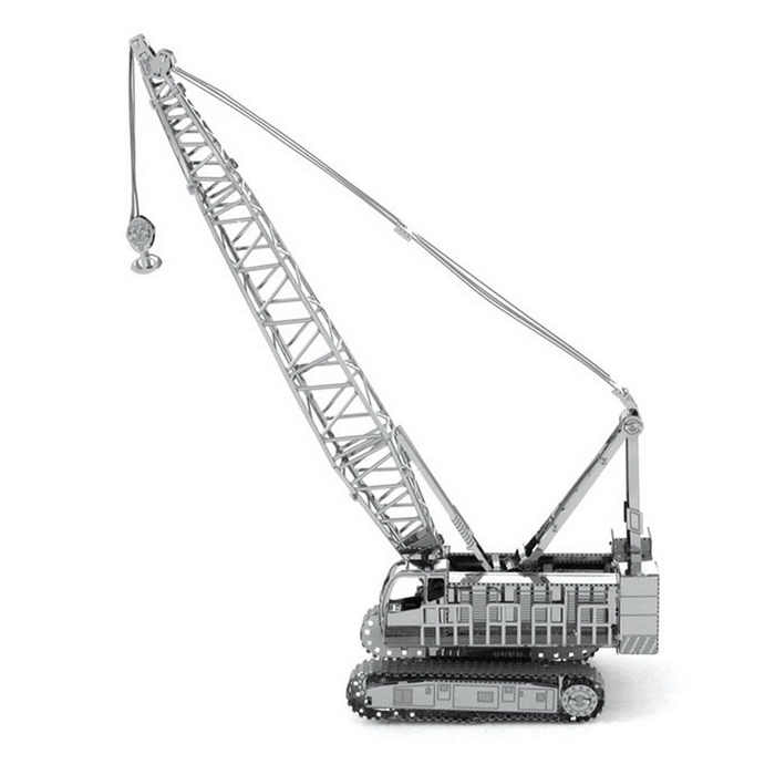 DIY 3D Puzzle Assembled Model Toy Crane Crane - Silver