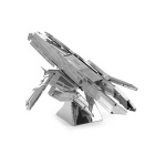 DIY 3D Turan Cruiser Style Puzzle Assembled Model Toy - Silver
