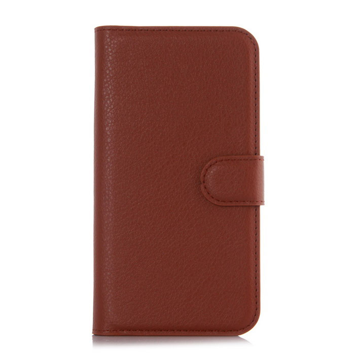 Lichee Pattern Protective Case for  Doogee Y100x - Brown