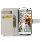 Lichee Pattern Protective Case for  Doogee Y100x - White