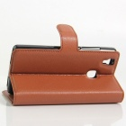 Lichee Pattern Protective Case for Doogee X5 Max - Brown