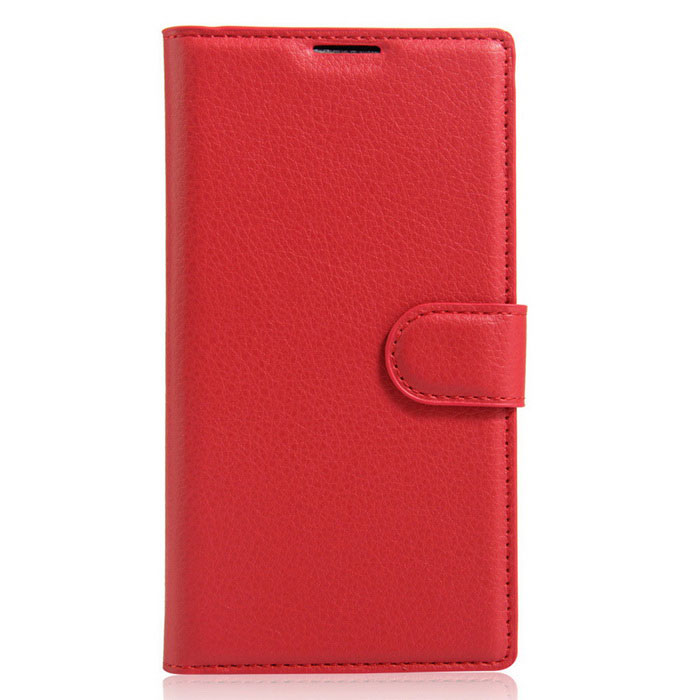 Lichee Pattern Protective Case for Doogee Y300 - Red