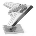 3D stereo DIY Creative Puzzle Stealth Fighter - Silver