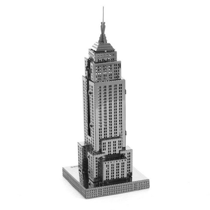 DIY 3D Puzzle Assembled Model Toy Empire State Building - Silver