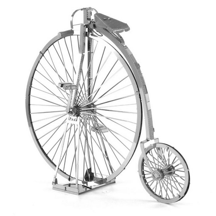 DIY 3D Puzzle Assembled Model Toy Vintage Bike - SilverBlocks &amp; Jigsaw Toys<br>Form  ColorSilverMaterialStainless steelQuantity1 DX.PCM.Model.AttributeModel.UnitNumber2Size8.7*3*7.3cmSuitable Age 5-7 years,8-11 years,12-15 years,Grown upsPacking List2 * Model  boards<br>