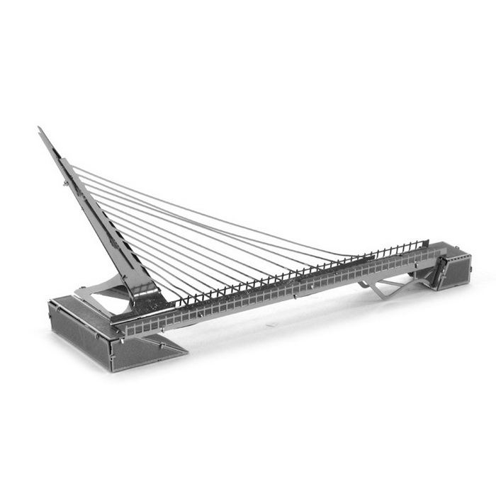 DIY 3D Puzzle Assembled Model Toy Sundial Bridge - SilverBlocks &amp; Jigsaw Toys<br>Form  ColorSilverMaterialStainless steelQuantity1 DX.PCM.Model.AttributeModel.UnitNumber1Size14*3.2*6.8cmSuitable Age 5-7 years,8-11 years,12-15 years,Grown upsPacking List1 * Model  board<br>