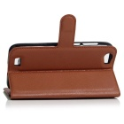 Lichee Pattern Protective Case for Doogee T6 - Brown