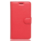 Lichee Pattern Protective Case for Doogee T6 - Red
