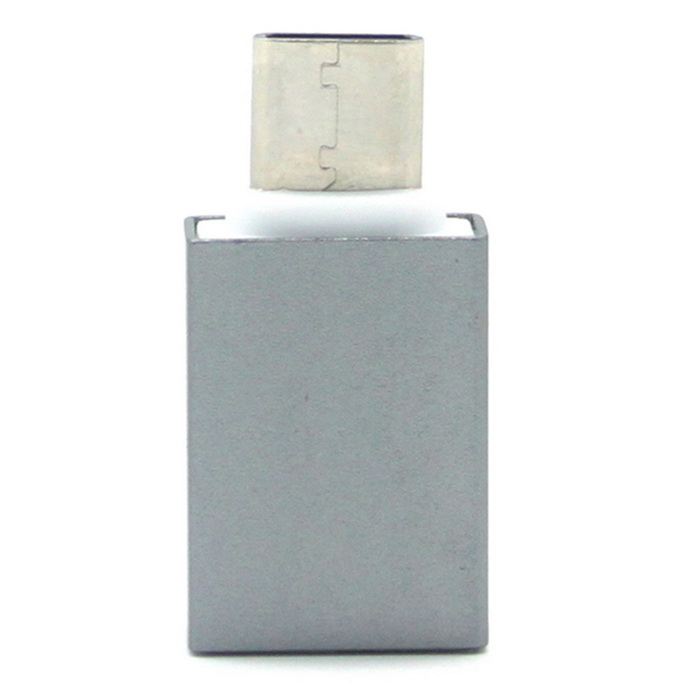 Mini Smile USB 3.1 Type-C Male to USB 3.0 Female OTG Adapter - GreyAdapters &amp; Converters<br>Form  ColorGreyMaterialAluminum alloyQuantity1 DX.PCM.Model.AttributeModel.UnitCompatible ModelsLG G5 / 5X / MACBOOK / Letv 1 and Letv proMain FunctionsInterface conversionConnectorUSB3.0 / TYPE CSplit adapter number1Cable Length3 DX.PCM.Model.AttributeModel.UnitPacking List1 * Adapter<br>