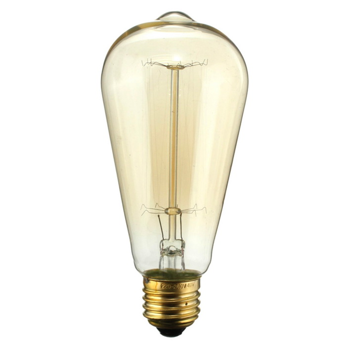 St64 60w Vintage Dimmable Tungsten Filament Bulb E26 Base 6 Pcs Free Shipping Dealextreme