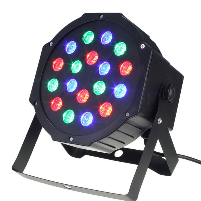 HESSION 24W 18 LEDs RGB Bar Light Stage Light - Black (US Plugs)Stage Lights<br>Form  ColorBLACKMaterialplasticQuantity1 DX.PCM.Model.AttributeModel.UnitShade Of ColorBlackPattern TypeRGBTotal Power24 DX.PCM.Model.AttributeModel.UnitPower AdapterUS PlugPacking List1 * Stage light<br>